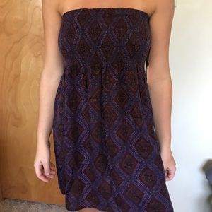 Forever 21 Purple Strapless Dress size S